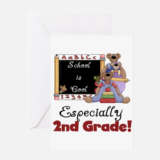2nd Grade School is Cool Greeting Card