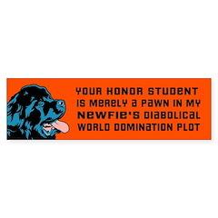 Obey the NEWFIE! Newfoundland bumper Bumper Sticker