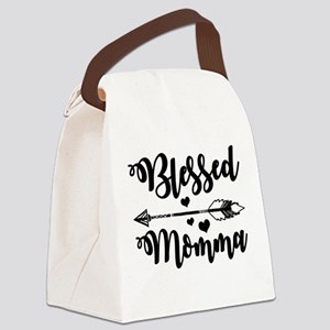 Blessed Momma Canvas Lunch Bag