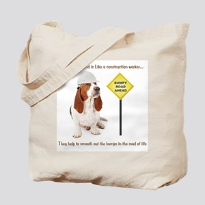 Basset Hound Construction Tote Bag