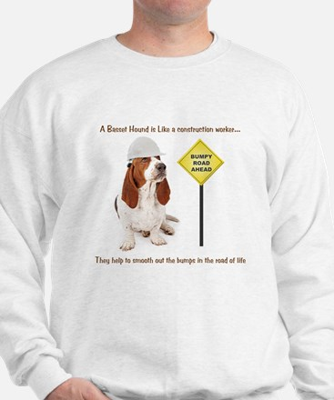 Basset Hound Construction Sweatshirt