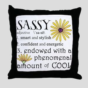 Sassy Definition Throw Pillow