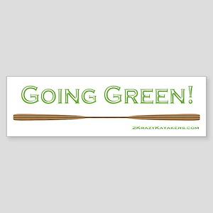 Going Green Sticker (Bumper)