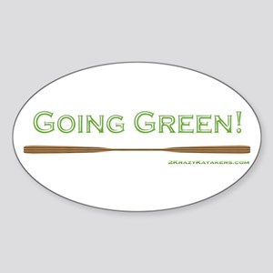 Going Green Sticker (Oval)