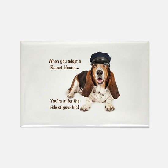 Basset Hound Chauffeur Rectangle Magnet
