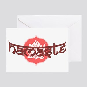 Namaste Lotus Greeting Card