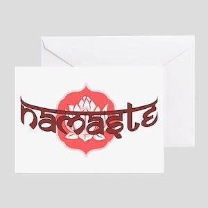 Namaste Lotus Greeting Card