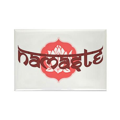 Namaste Lotus Rectangle Magnet