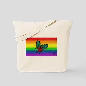 HOLLY gay rainbow art Tote Bag