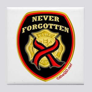 Thin Red Line NeverForgotten Tile Coaster