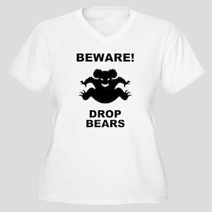 Drop Bears! Women's Plus Size V-Neck T-Shirt