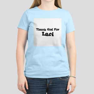 Thank God For Laci Women's Pink T-Shirt
