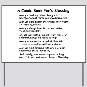 Comic Book Blessing Yard Sign
