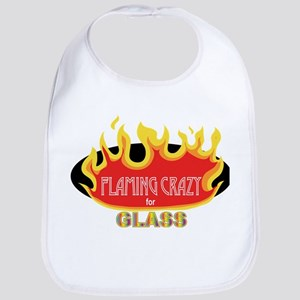 Flaming Crazy for Glass Bib