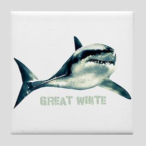 Great White Tile Coaster