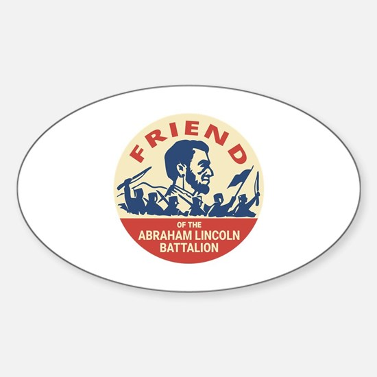 Cute Anti fascism Sticker (Oval)