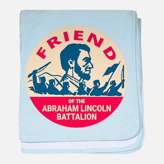 Abraham Lincoln Brigade Anti-fascist baby blanket
