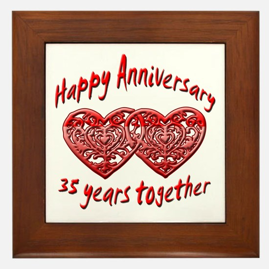 35th wedding anniversary Framed Tile