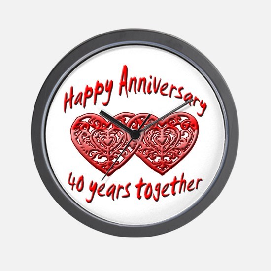 Cute Anniversary Wall Clock