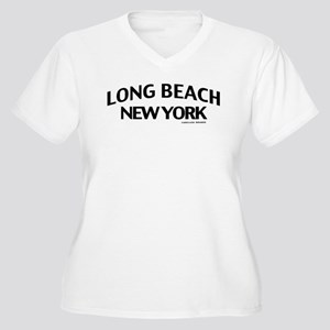 Long Beach Women's Plus Size V-Neck T-Shirt