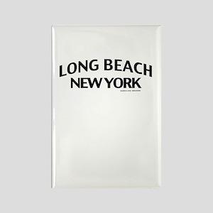 Long Beach Rectangle Magnet