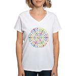 Peace Symbols Women's V-Neck T-Shirt