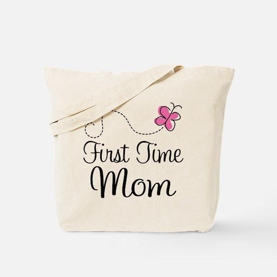 Fun 1st Time Mom Tote Bag