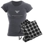 White logo, no background Women's Charcoal Pajamas