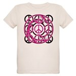 Pink Peace Symbols Organic Kids T-Shirt