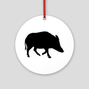 Wild pig - boar Ornament (Round)