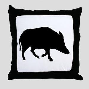 Wild pig - boar Throw Pillow
