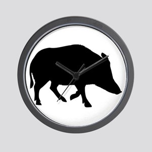 Wild pig - boar Wall Clock