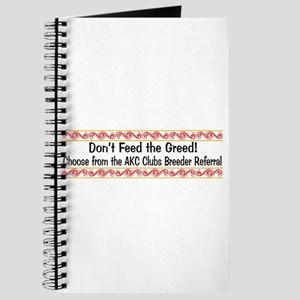 Don't Feed the Greed Journal