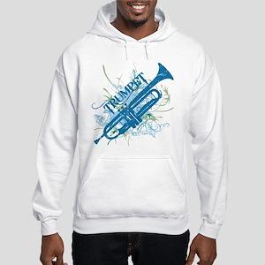 Cool Grunge Trumpet Hooded Sweatshirt