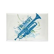 Cool Grunge Trumpet Rectangle Magnet