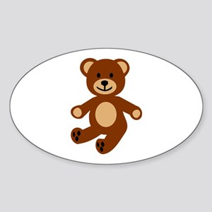 Teddy bear Sticker (Oval)