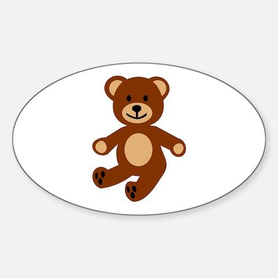 Teddy bear Sticker (Oval)