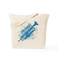 Cool Grunge Trumpet Tote Bag