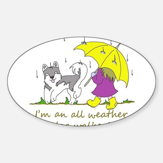 Unique Dog walker Sticker (Oval)