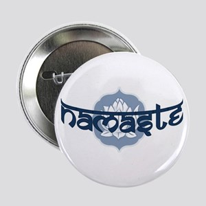 "Namaste Lotus - Blue 2.25"" Button"