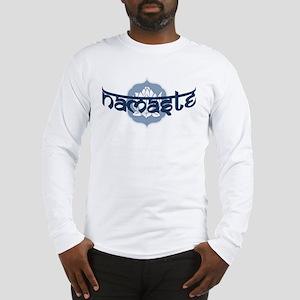Namaste Lotus - Blue Long Sleeve T-Shirt