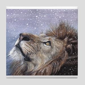 Winter Lion Tile Coaster