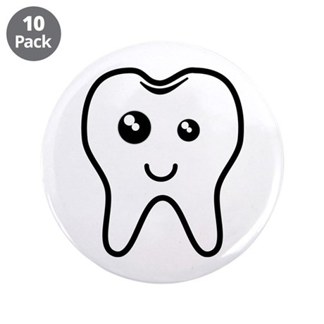 """The Tooth 3.5"""" Button (10 pack)"""