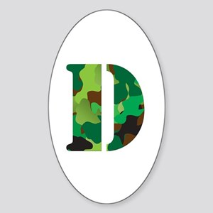 The Letter 'D' Sticker (Oval)