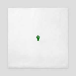 Green Fist Queen Duvet