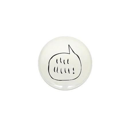 Chicken Scratch Speech Bubble Mini Button by gelucas