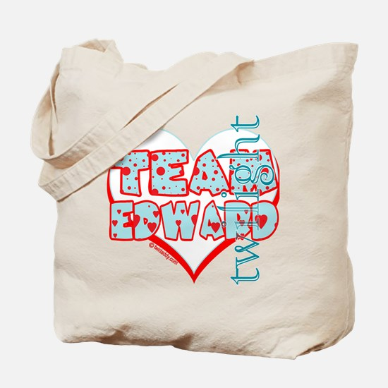 Team Edward Dots and Hearts by Twidaddy Tote Bag
