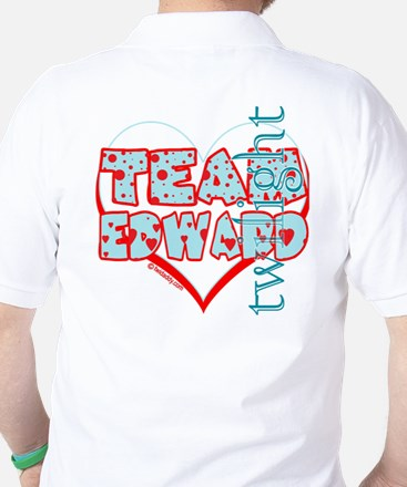 Team Edward Dots and Hearts by Twidaddy Golf Shirt