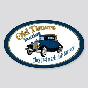 Old Timers Sticker (Oval)