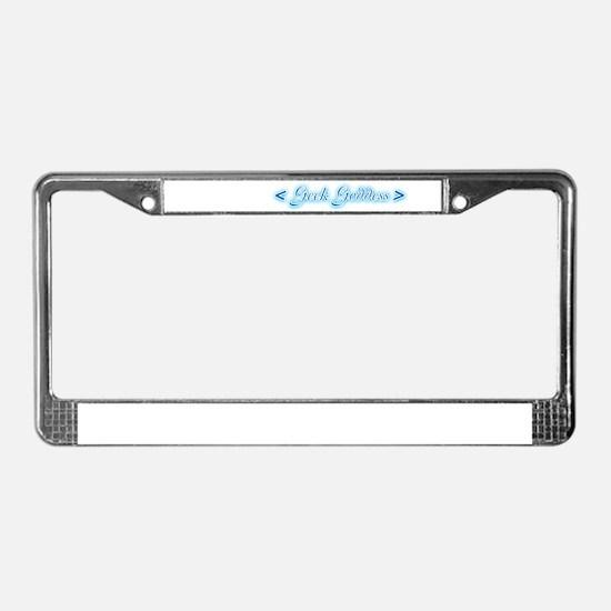 Geek Goddess License Plate Frame